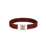 Sieraad nr. BG008 Armband Zilver met leer €199,-