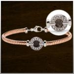Sieraad nr. BL006 Zilver rosé verguld €225,-