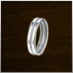 Sieraad nr. RG026 Aanschuifring Zilver €39,- (prijs is per stuk. Afbeelding is 2 stuks)