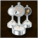 Candle urn Glas & Aluminium / nr. 110 A 100mm/45mm/75mm €225,-