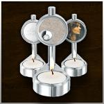 Candle urn Glas & Aluminium / nr. 110 A 100mm/45mm/75mm €225,-