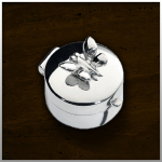 Zilveren mini urn Butterfly / nr. 501 SV 19mm breed €125,-