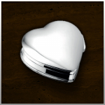 Zilveren mini urn Heart /large nr. 503 S Staal 28mm breed €165,-