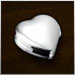 Zilveren mini urn Heart / nr. 503 S Staal 28mm breed €165,-