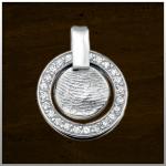 Sieraad nr. 401 SZ Zilver Zirconia vingerafdruk €235,-