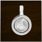 Sieraad nr. 403 S Zilver vingerafdruk €225,-