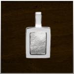 Sieraad nr. 404 S Zilver vingerafdruk €225,-